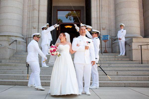 Naval Academy Wedding Sword Arch
