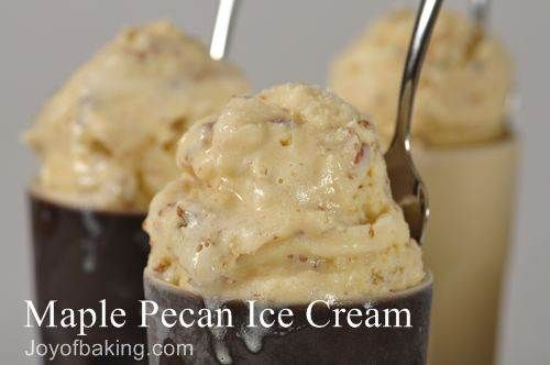 Maple Pecan Ice Cream...I'm going to add salt for a Salted Maple Pecan ...
