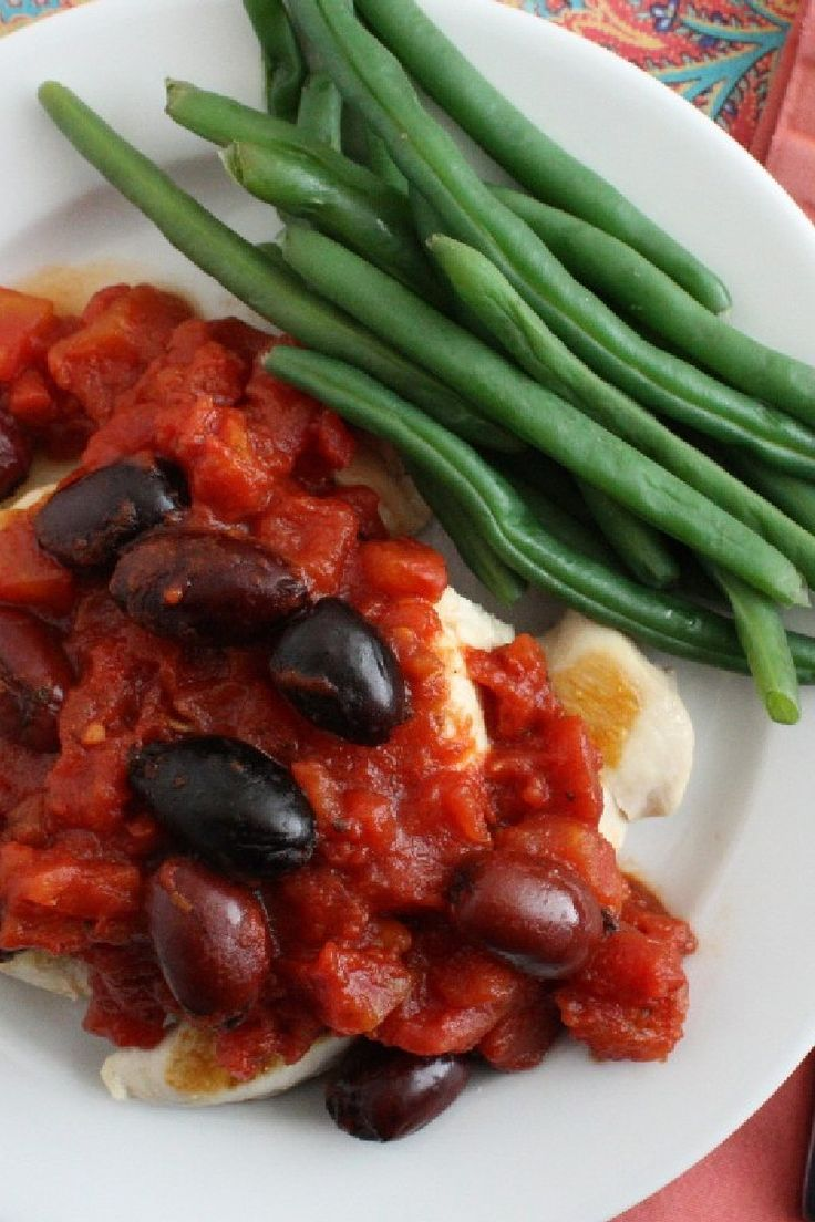 Roasted #Chicken With Tomatoes and Olives Dinner #Recipe