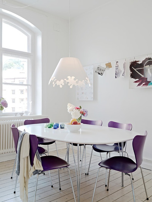 purple dining room chairs home pinterest