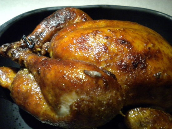 Lemon Tea Brined Slow Roasted Chicken   Recipe