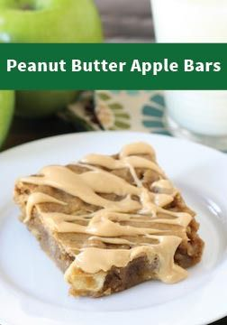 Peanut Butter Apple Bars – If you love apples dipped in peanut ...