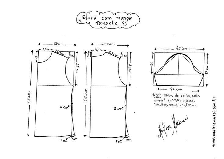 Выкройки блузок для начинающих простые выкройки 48 размер