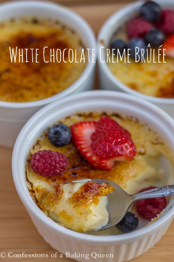 White Chocolate Creme Brûlée www.confessionsofabakingqueen.com
