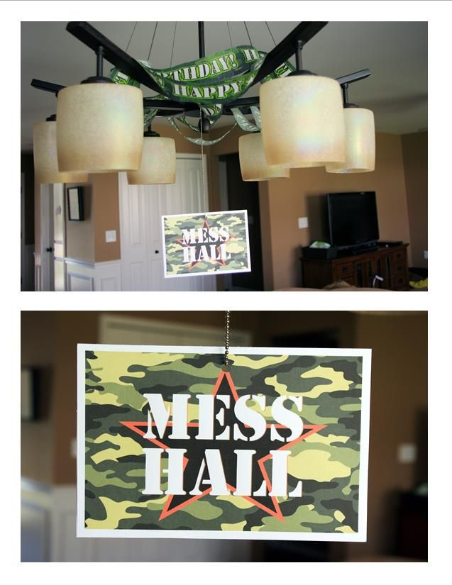 Army party decorations mess hall for Army decoration ideas