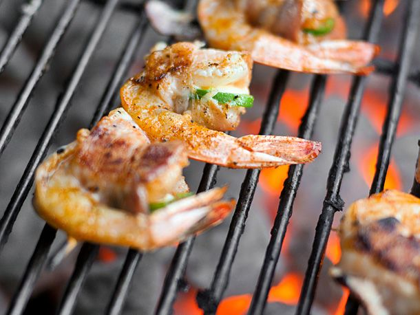 Grilling: Bacon-Wrapped, Jalapeno and Cheese-Stuffed Shrimp | Recipe