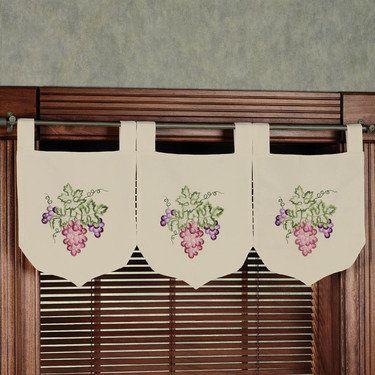 Grape Banner Valance Set Home Decor Pinterest