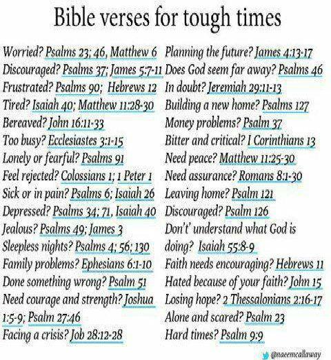 Bible verses for tough times GOD Pinterest