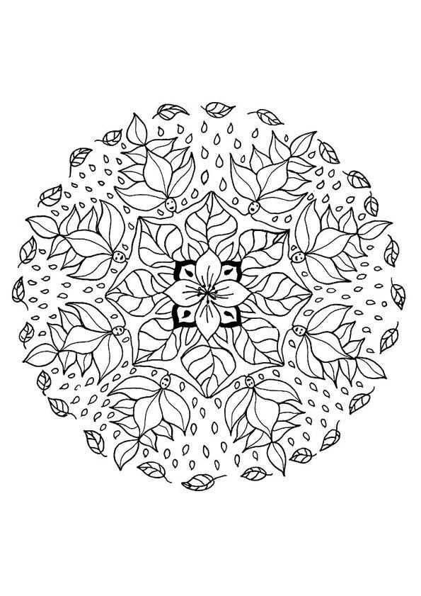 Mandala kleurplaten  tattoo  Pinterest