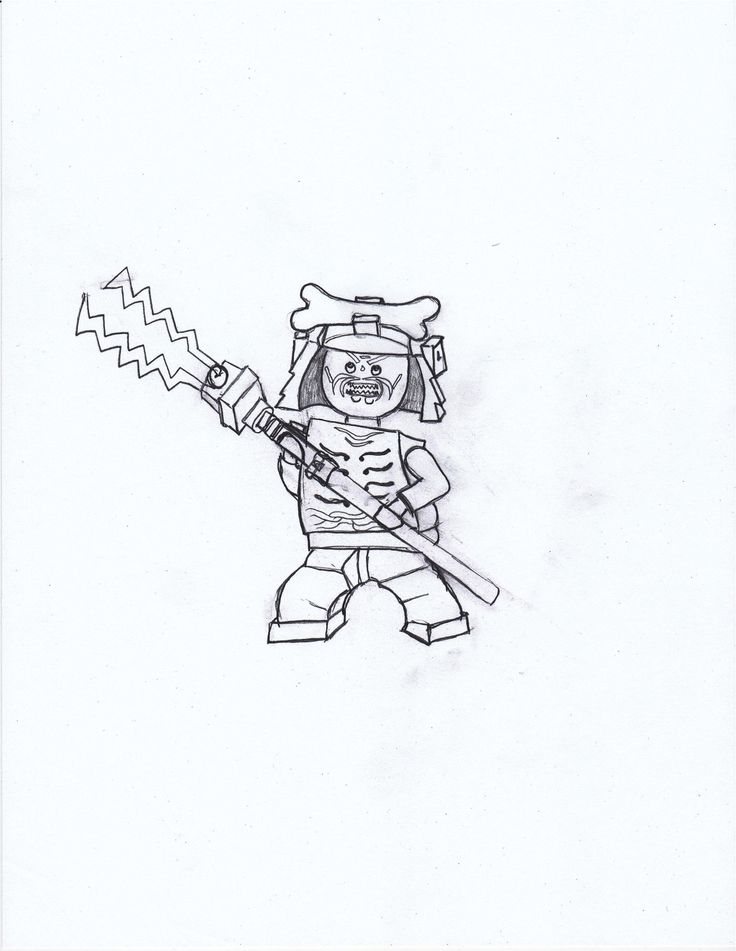 Coloring Page drawn By Me Of Lord Garmadon From Ninjago Masters