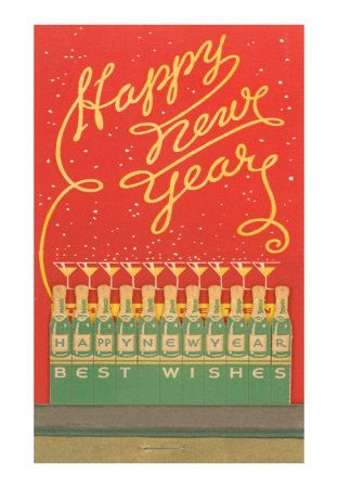 Happy New Year vintage matchbook