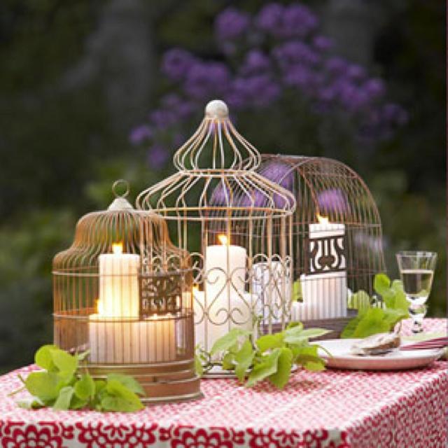 Table Centerpieces For Backyard Party : Bird cage centerpiece  margara  Pinterest