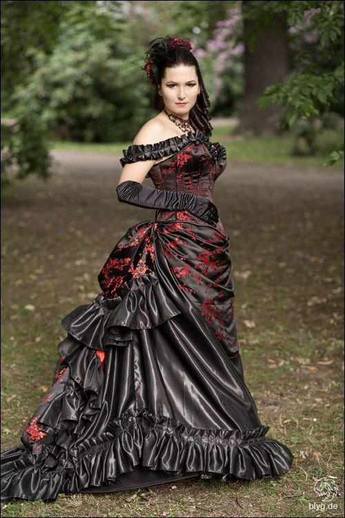 Pin by monster mary bart on dark romantic gothic fashion for Gothic style wedding dresses