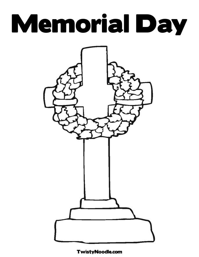 free memorial day color sheets