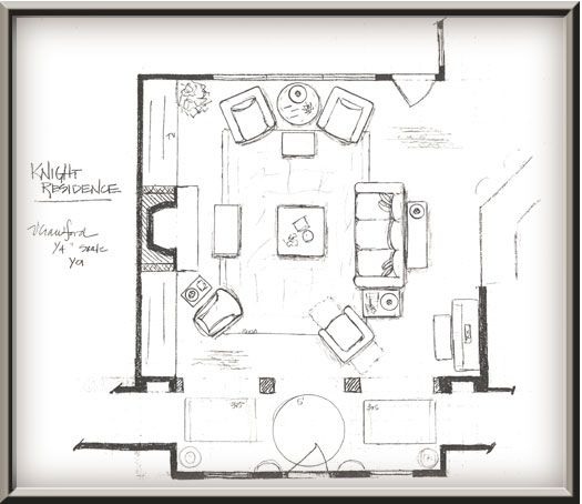 Interior design plan by valerie crawford process for Interior designs drawings