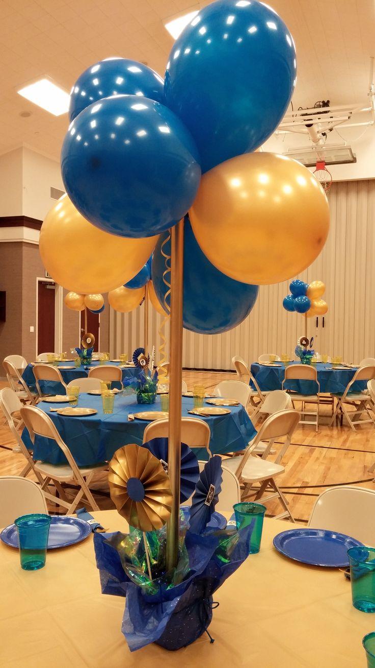 Cub scout blue and gold centerpieces car interior design