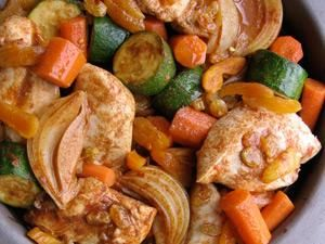 Moroccan braised chicken with zucchini via @Chatelaine Magazine