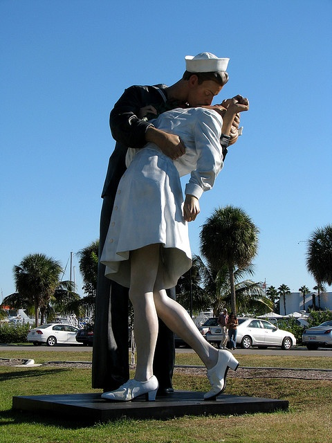 Sarasota, FL. (this statue used to be in Hamilton, NJ and then one day it was gone- went to visit my dad in Sarasota and there it was!!! <3