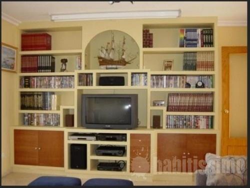 Mueble salon en pladur sal n pinterest - Muebles pladur para salon ...