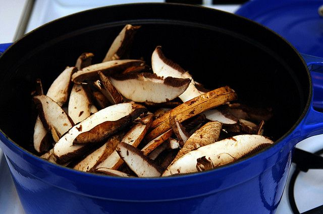 Mushroom Bourguignon- leave the portobello or cremini mushrooms whole ...