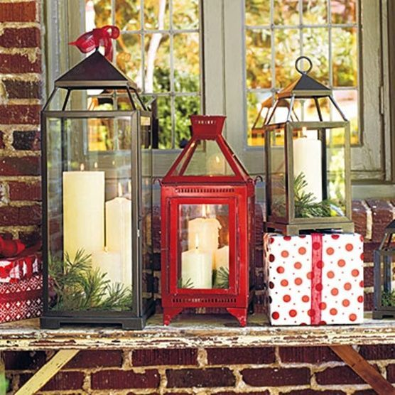 christmas decorations ideas lanterns holidays pinterest