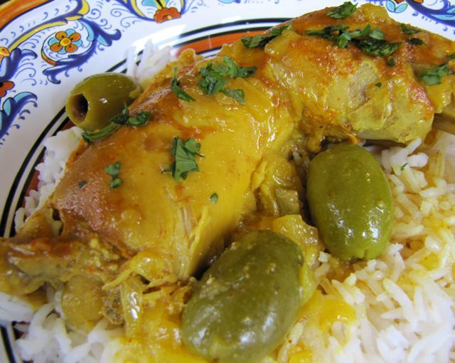 Moroccan Lemon Chicken with Olives   Recipe