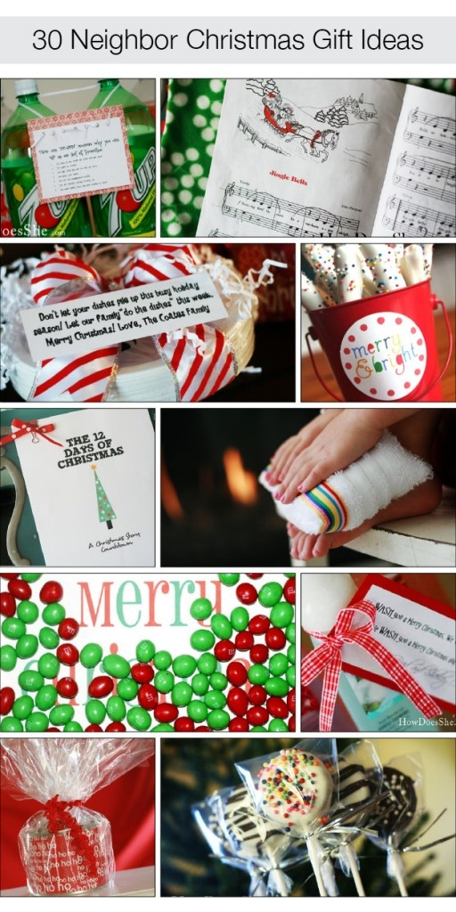 30 Neighbor Christmas Gift Ideas! Great for teachers & friends too'