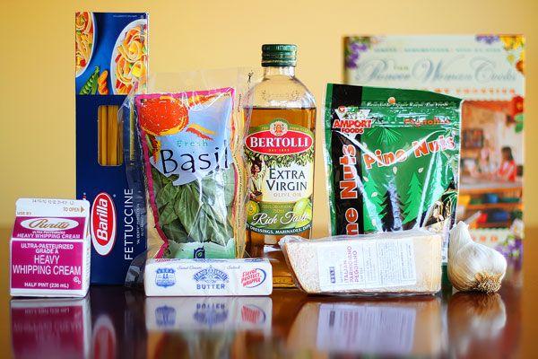 Pasta with Pesto Cream Sauce | Pasta | Pinterest