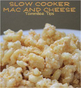 Easy Cheesy Mac and Cheese - This slow cooker mac and cheese recipe is ...