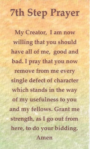 7th Step Prayer : Sobriety : Pinterest