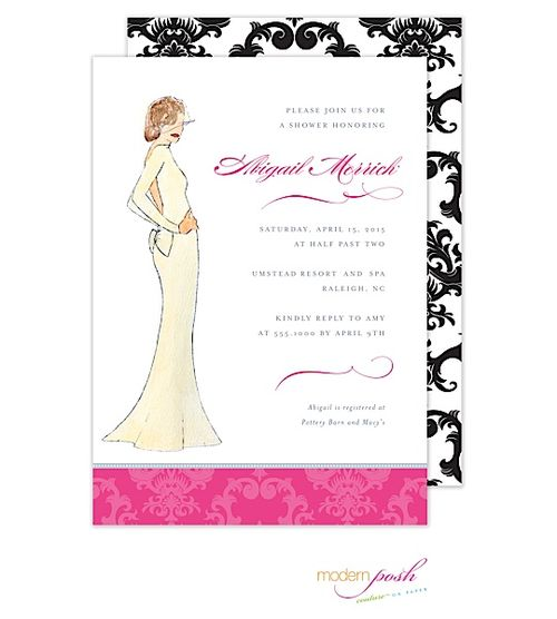Modern Posh Diva Wedding Shower Invitation ::: Available at Taste Buds ...