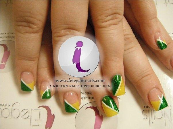 Packer Nails at iElegant Nails Spa in Green Bay Wisconsin. | nails