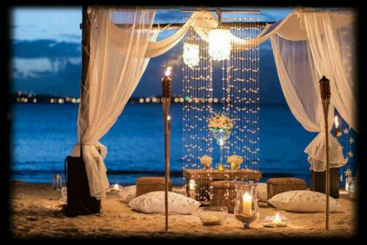 Romantic Backyard Dinner Ideas : Romantic beach dinner15 yr wedding anniversary this year Romantic
