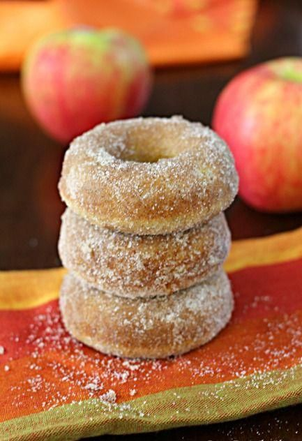 Baked Apple Cider Doughnuts - Love with recipe