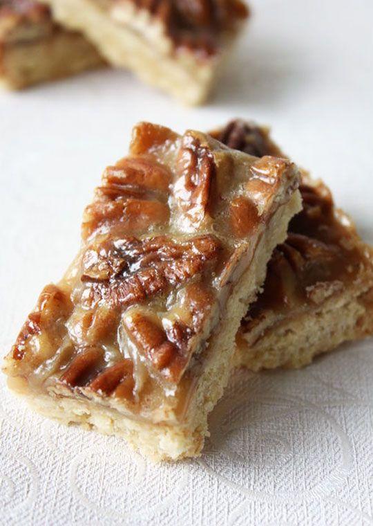 Caramel Pecan Squares Recipe | Cookies, Brownies, Bar Cookies | Pinte ...