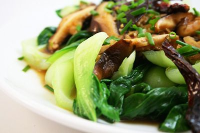 Baby Bok Choy With Shiitake Mushrooms | asian recipes | Pinterest