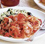 Hot Garlicky Shrimp with Asparagus & Lemon | Recipe