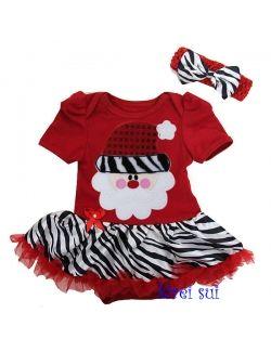 Girl clothing dresses christmas baby pettiskirt dress set santa