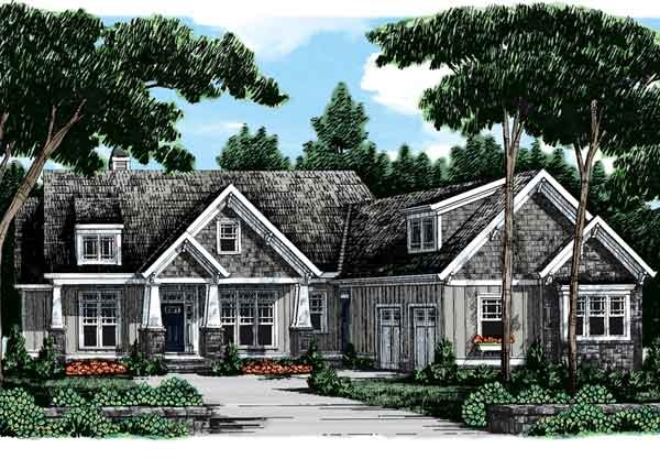 Southern living lakeside cottage house plan joy studio for Southern craftsman home plans