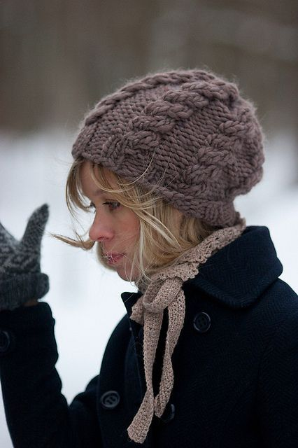 Free Knitting Pattern Hat With Bulky Yarn : Bulky Hat *Free Pattern knitting Pinterest