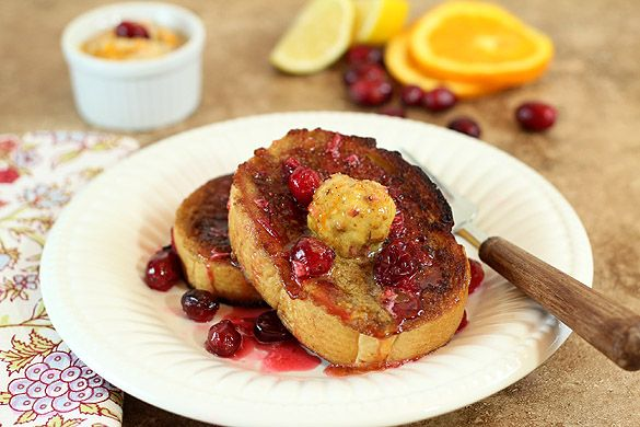 French Toast with Toasted Walnut, Orange, Cranberry and Brown Sugar C ...