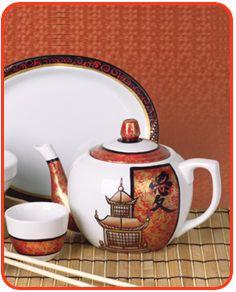 Asian theme tea set