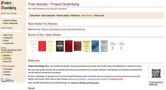 free public domain books sources