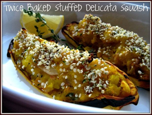 Twice Baked Stuffed Delicata Squash...really want to try the curry ...