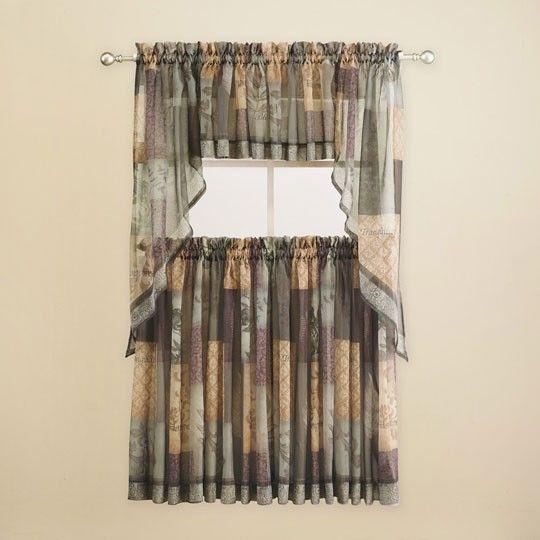 Sage Colored Curtains Kitchen: Eden Sage Kitchen Curtains $18.00