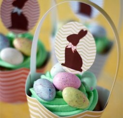 free easter cupcake toppers and holders