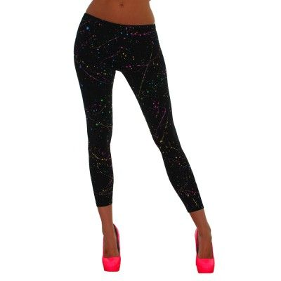 Neon Splatter Leggings. $24.95