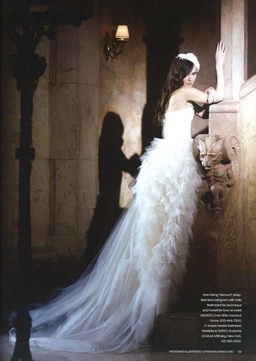 Vera wang haute couture wedding
