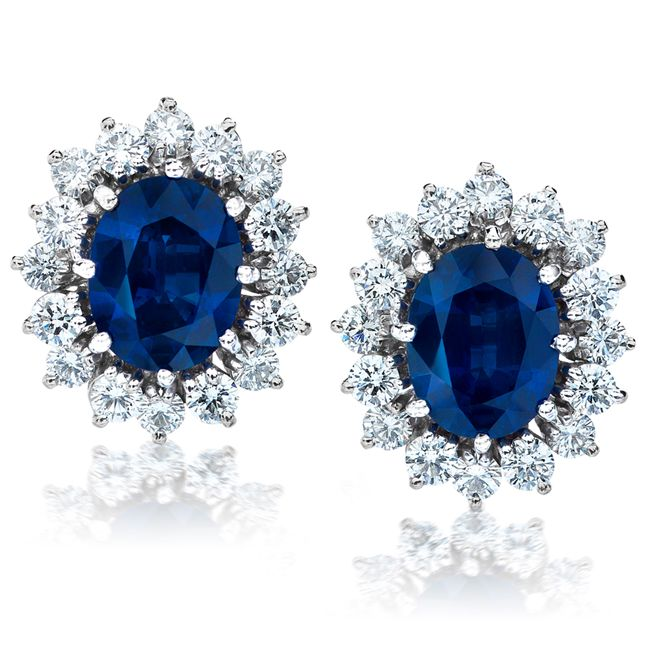 Sapphire and Diamond Earrings from Jeffrey Daniels Unique Designs