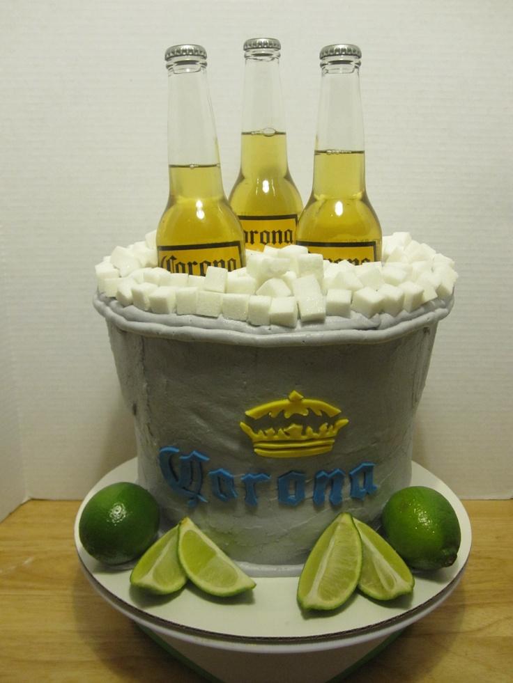 corona beer bucket cake cakes pinterest